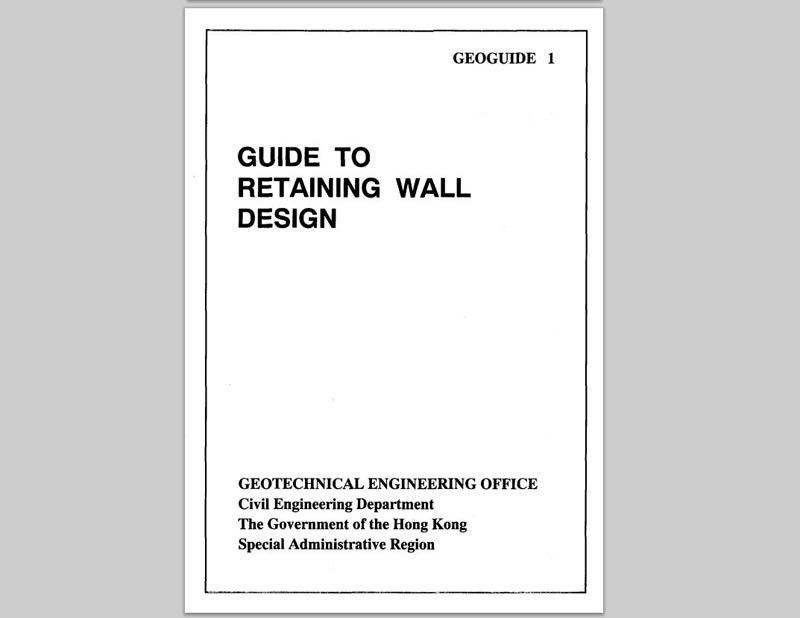 geoguide 1 guide to retaining wall design geo - Retaining Wall Design Examples