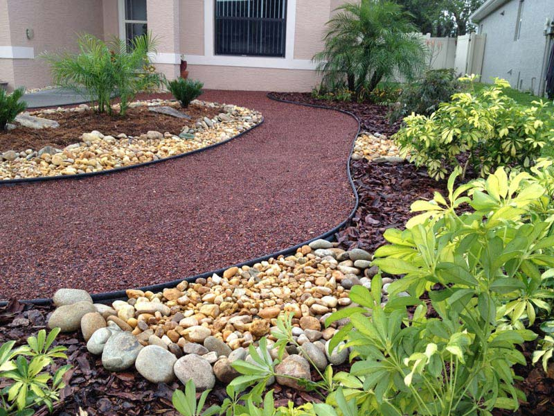 Landscaping ideas for front yard no grass landscape design for No maintenance front yard