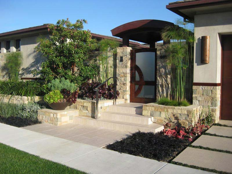 Front yard ideas no grass landscape design for Southern california landscaping ideas