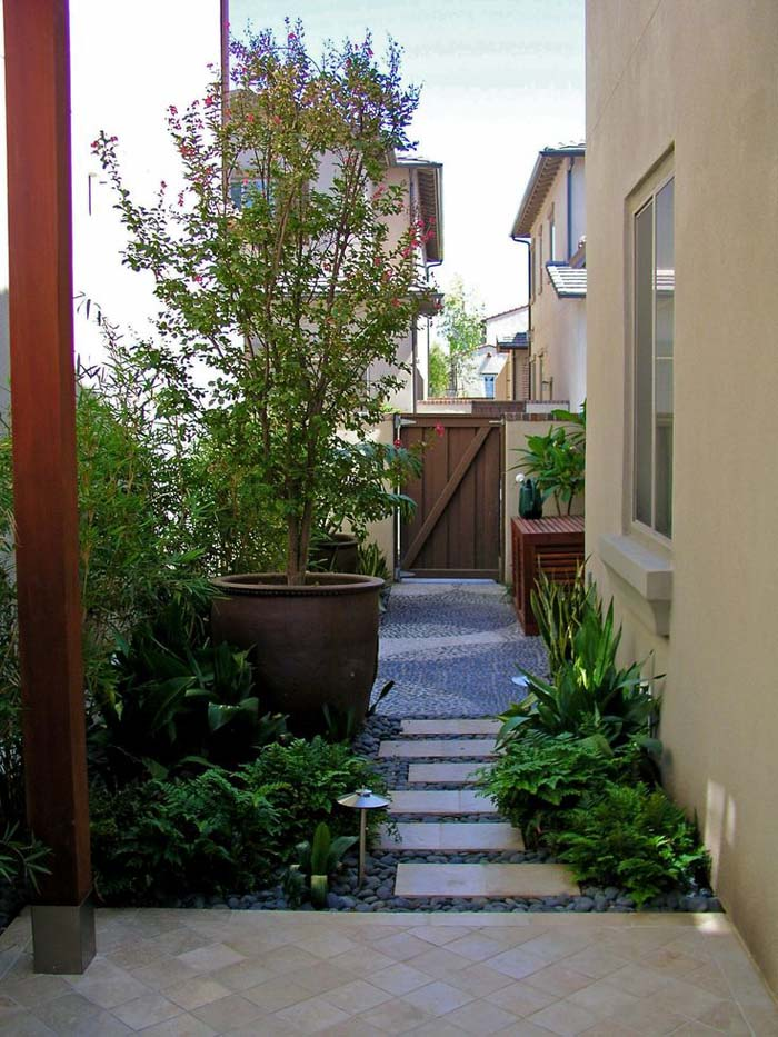 Easy Backyard Landscaping Ideas For Beginners In Square: How To Make An Apply Unique Side Yard Landscaping Ideas