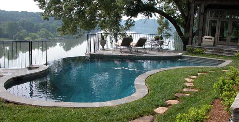 Top swimming pool landscaping facilities and ideas landscape design for Above ground swimming pool landscaping photos