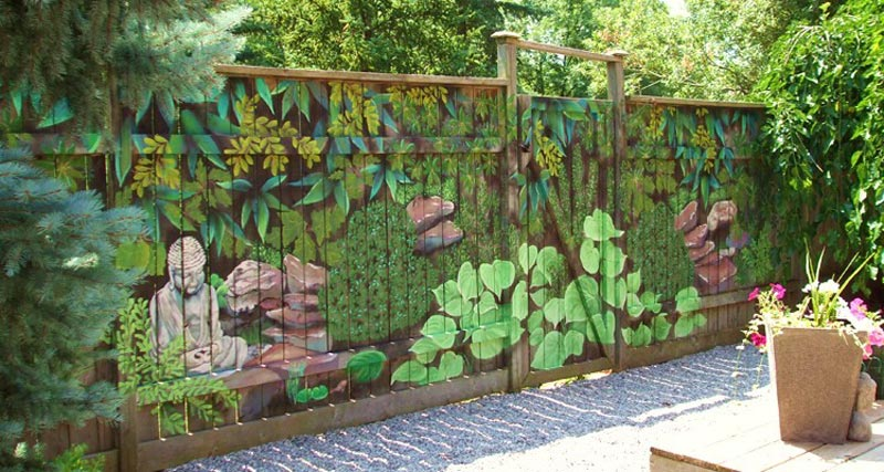 Garden-Fence-Decorating-Ideas