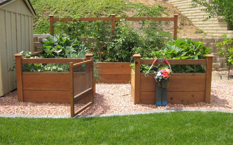 raised bed garden fencing ideas - Vegetable Garden Fence Ideas