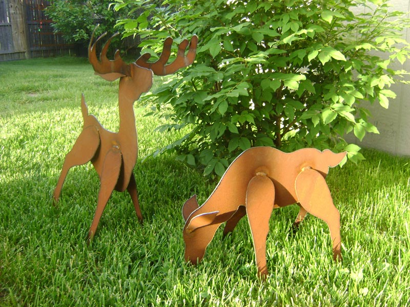 lawn-ornaments-deer