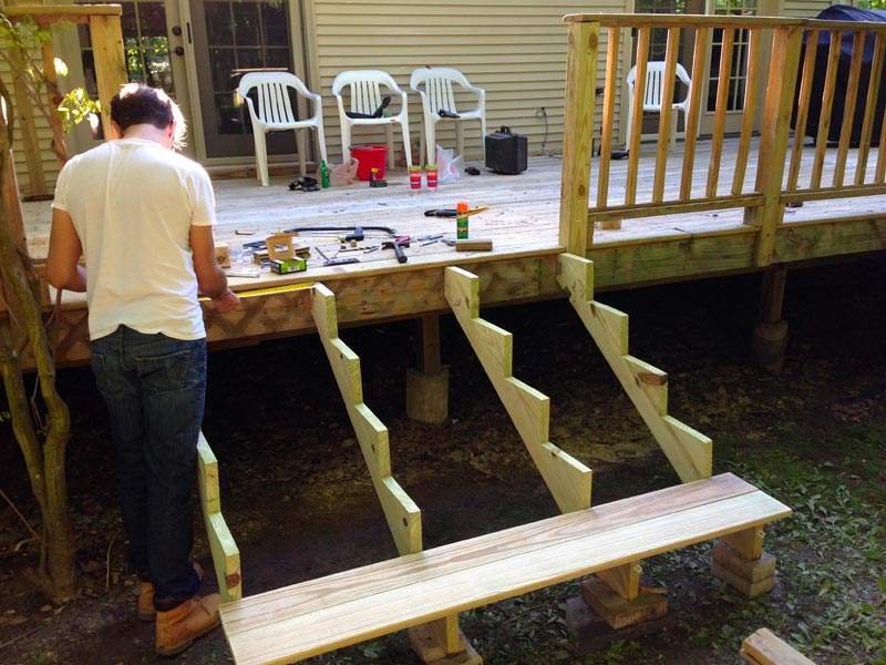 Deck stair construction australia how to build outdoor for Pre built stairs interior