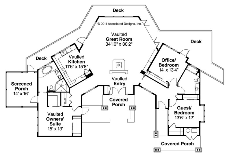 cabin style homes floor plans