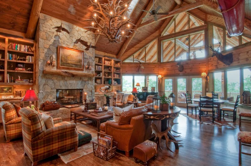 cabin-style-homes-interior