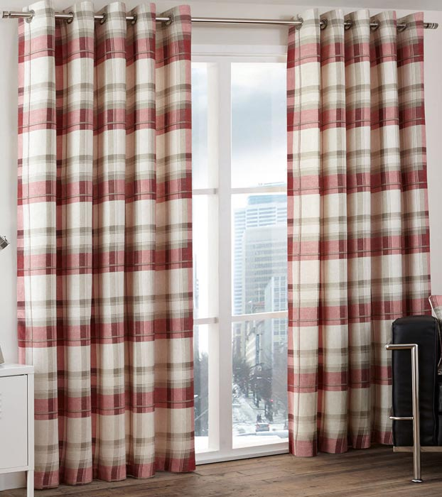 cabin-check-curtains
