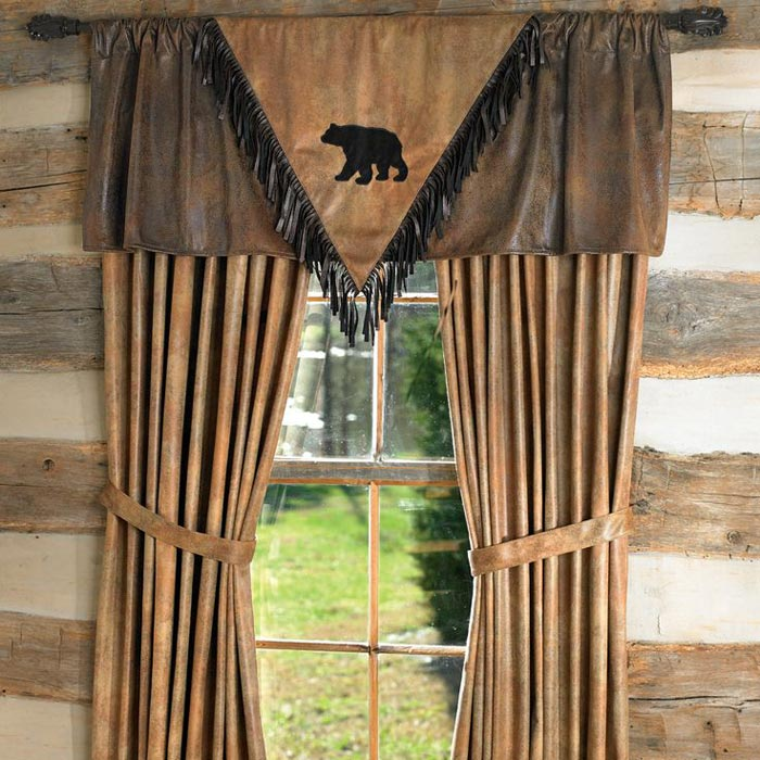 log cabin curtains drapes landscape design