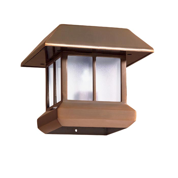 4x4 Lamp Shade : Deck post cap lights solar landscape design