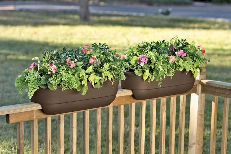 Deck-rail-planters