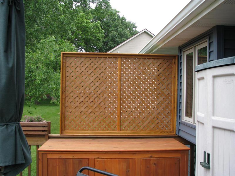 Deck Privacy Screen For Additional Privacy Level