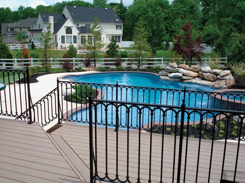 Metal deck railing for safe decks and patios landscape