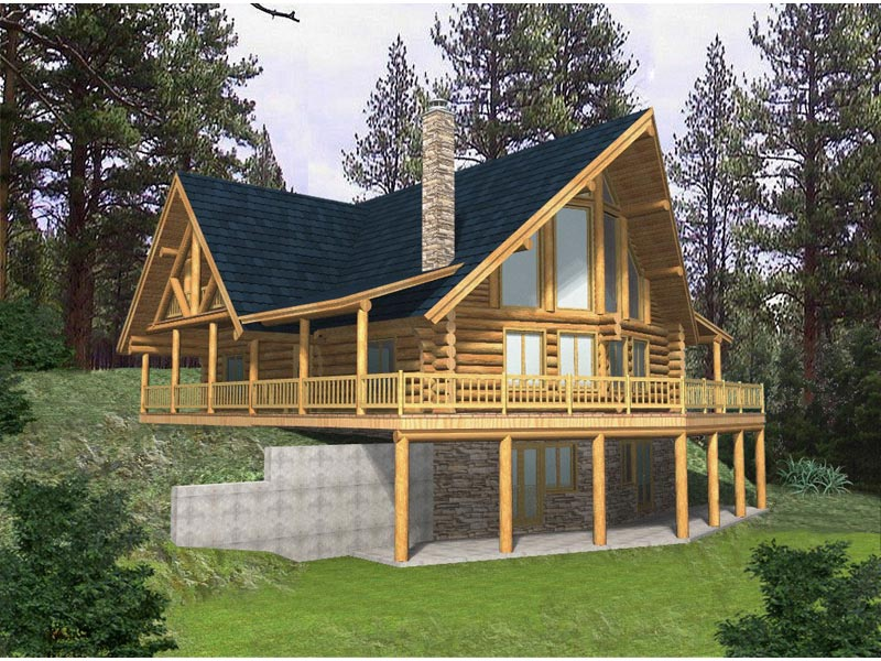 Rustic cabin plans for enjoying your weekends away from for A frame house plans with basement
