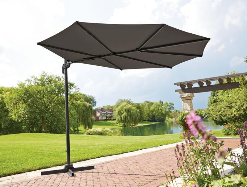 Backyard Umbrella Target : Gallery of Deck Umbrellas For Extra Comfortable Outdoor Entertaining