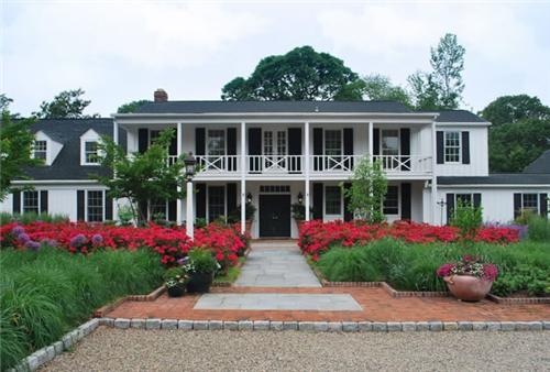 front yard landscape ideas colonial homes