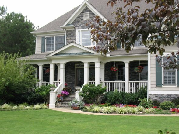 Landscaping Ideas For A House With A Front Porch : Useful front yard landscape ideas tips design
