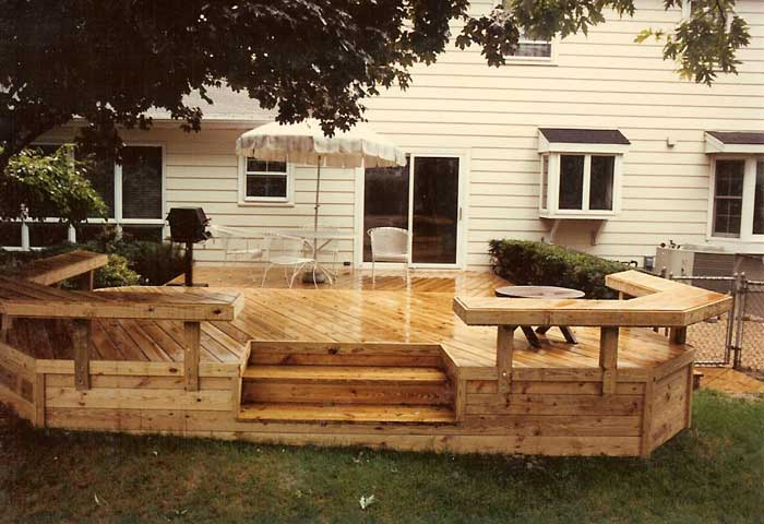 Floating deck plans effective project by diy network for Floating bench plans