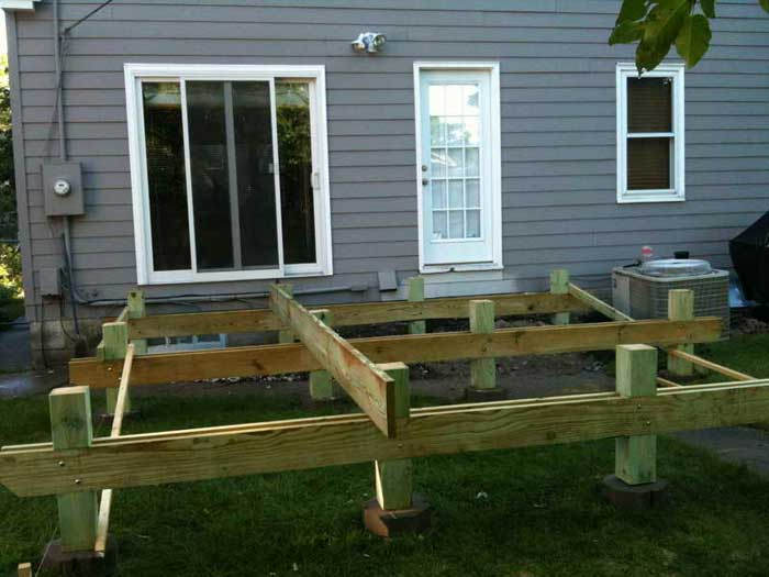 Floating deck plans effective project by diy network for Deck plans online