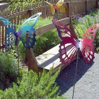 Pleasing-decorative-garden-stakes-metal