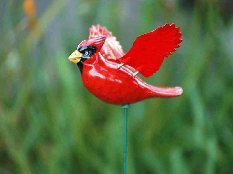 Surprising-decorative-garden-stakes-metal