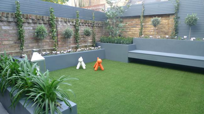 Modern small low maintenance garden design